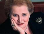 Madeleine Albright wearing brooch