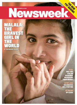 Malala on cover of Newsweek
