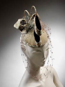"Stephen Jones ""Pas de daux"" 1982 hat at the Essex Peabody Museum, ©Victoria and Albert Museum"