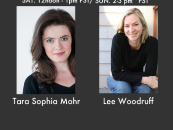 Tara Sophia Mohr and Lee Woodruff are guests on The Women's Eye Radio Show October 27,28 2012
