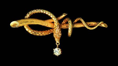 Madeleine Albright's Serpent Pin, Circa 1860 Designer Unknown, USA