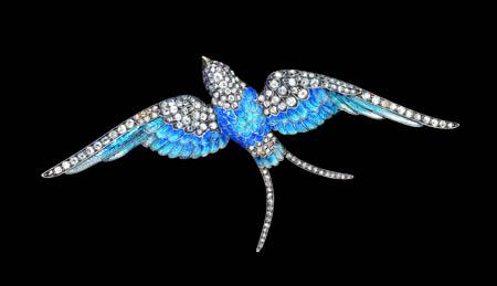 Mdadeleine Albright's Bluebird pin, circa 1880