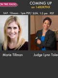 Marie Tillman, of the Pat Tillman Foundation and Judge Lynn Toler of Divorce Court for TWE Radio Encore Show