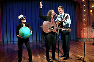 Yoko Ono and son on Jimmy Fallon Show/Photo: Lloyd Bishop, NBC
