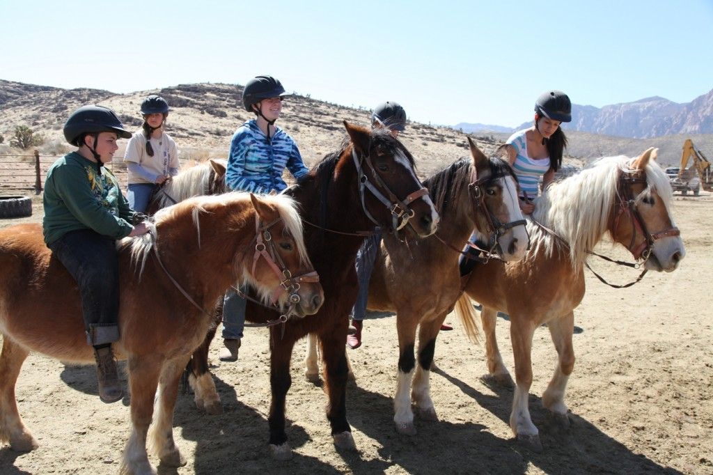 Kids on horseback at Amy Meyer's WHY Ranch/TWE STORY OF THE WEEK/Photo: Adrian Leon