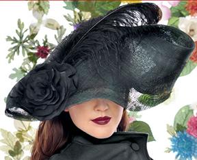 Hatmaker Jasmin Zorlu's black hat