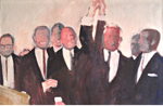 Congressional Leaders Then and Now by Peter Ruta 1963