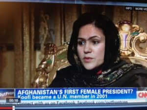 Fawzia Koofi on CNN's Outfront with Erin Burnett