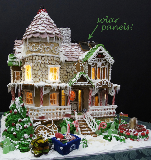 Eco-friendly Gingerbread House by Laura Morrissette