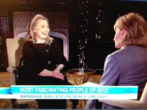Hillary Clinton, Barbara Walters--2012 Most Fascinating--ABC