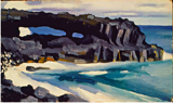 "Georgia O'Keeffe's ""Black Lava Bridge, Hana Coast No.1-1929 from the Honolulu Museum of Art"