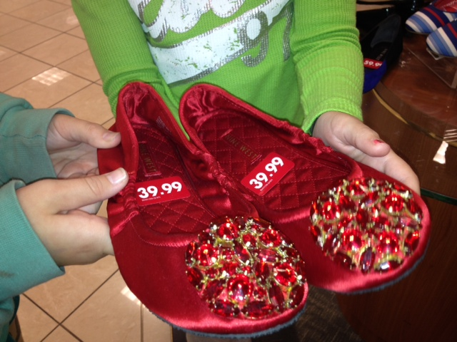 Red Slipper with decor