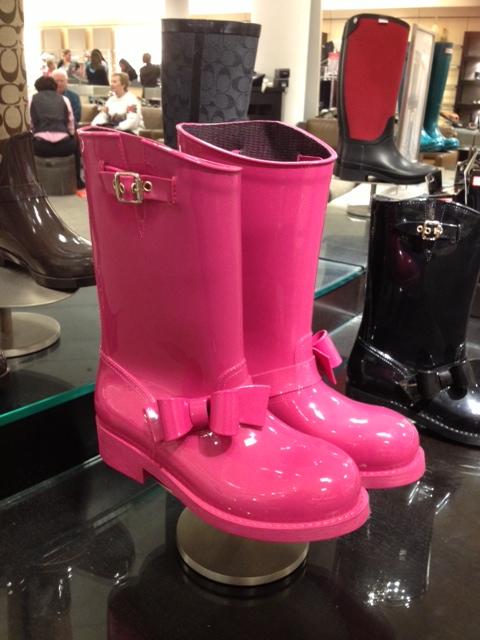 red valentino rain boots pink