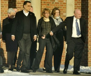 Gabby Giffords and Mark Kelly in Newtown/1-4-13