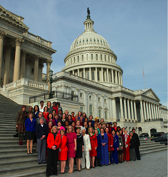 House Democratic Women of the 113th Congress on the Capitol steps 1/3/13 | Photo: by Leader Nancy Pelosi via Flickr