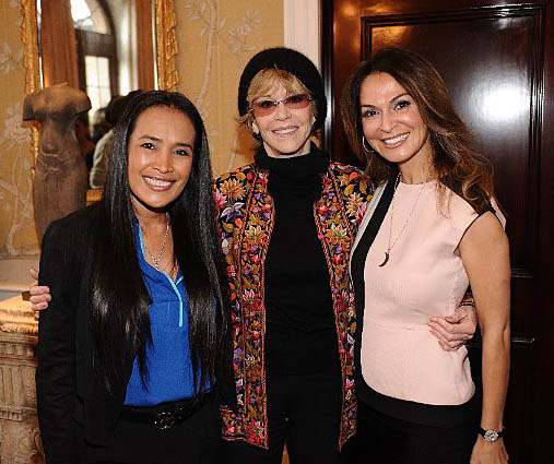 Somaly Mam, Jane Fonda, Angella Nazarian at Women A.R.E. event