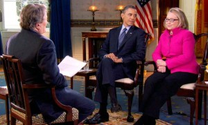 "'60 Minutes"" Interview with President Obama and Hillary Clinton/Photo: CBS"