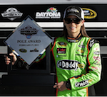 Danica Patrick after winning the Datona 500 pole position | Photo: Danica Patrick Facebook
