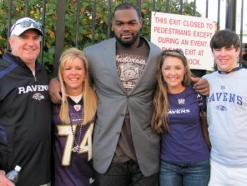 NFL football player Michael Oher and Tuohy Family