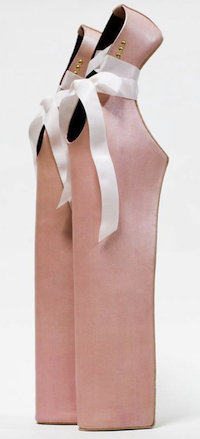 "Noritaka Tatehana Lady Pointe Shoes with 18"" heel 