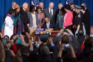 President Obama signs expanded VAWA Act/3-7-13--twitter/whitehouse photo