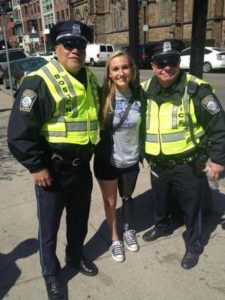 Bree McMahon, amputee soccer player visits Boston bombing Victims