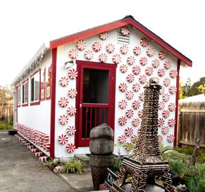 "Charlotte Kruk's backyard studio, ""Peppermint Place"""