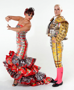 Charlotte Kruk's Matador and Flamenco dancer sculptures/outfits