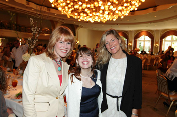 "Stacey Gualandi, Claire Wineland, and friend at ""Soaring Spirit Awards"" 3/12/13"