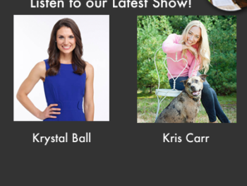 Krystal Ball, co-host of MSNBC's The Cycle, and Kris Carr, cancer survivor and cookbook author