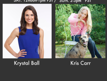 Krystal Ball, co-host of MSNBC's The Cycle, and Kriss Carr, cancer thriver and cookbook author