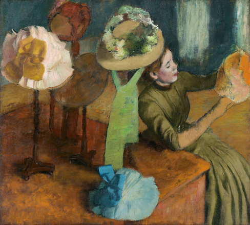 Edgar Degas' The Millinery Shop, 1879 at the Met in NYC