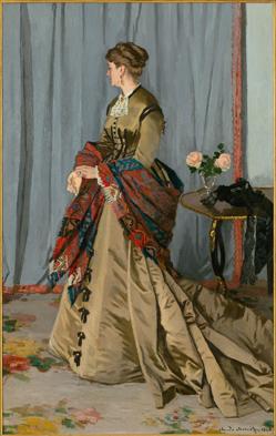 Madame Louis Joachim Gaudibert, 1868 painting by Claude Monet at the Met, NYC