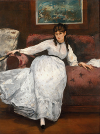 Edward Manet's Repose, 1871 oil on canvas at the Met, NYC