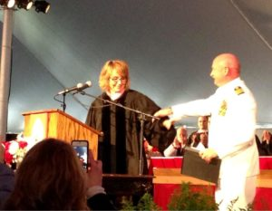 Gabby Giffords and Mark Kelly at Bard Graduation, May 25, 201/Bard Twitter