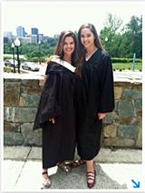 Maria Shriver and her daughter, Christina Schwarzenegger, at Christina's graduation from George Washington University