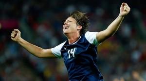 Abby Wambach, set international record in soccer/USA Today Sports