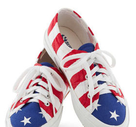 Grand bold flag sneakers at modcloth