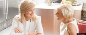 Arianna Huffington and Mika Brzezinski at Huff Post Women's Conference