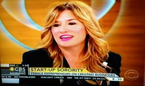 Ali Webb on Female Entrepreneurs/CBS Morning Screenshot