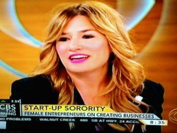 Ali Webb on Female Entrepreneurs/CBS Morning Screenshot