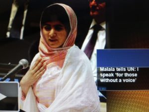 Malala Yousafzai speaks before United Nations 7/12/13--Screenshot