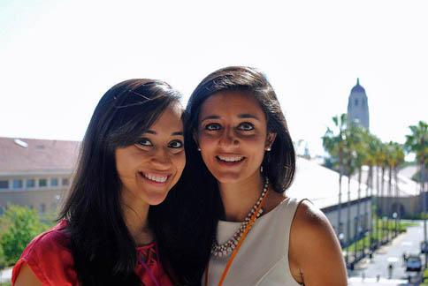 Ellora Israni and Ayna Agarwal, founders of she++