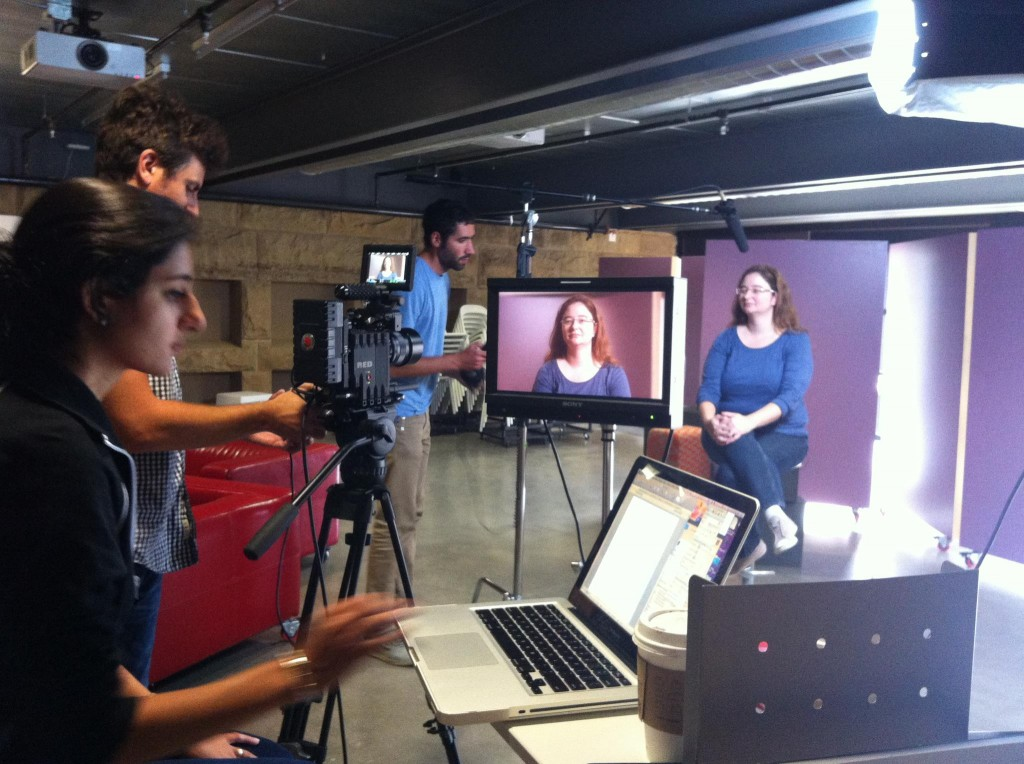 Filming the she++ documentary at Stanford