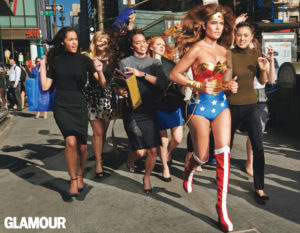 Glamour Magazine Wonder Woman for Deborah Spar article