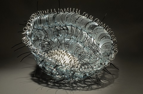 Emily Dvorin's sculptural basketry, SPUN