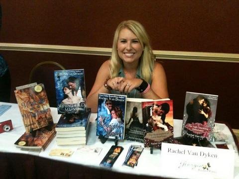 Rachel Van Dyken signing books