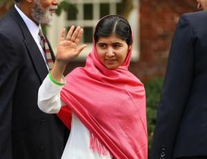 Malala at Harvard/Boston Globe