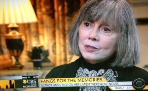 Anne Rice on CBS This Morning--VIDEO