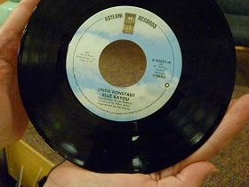 Linda Ronstadt record/Blue Bayou--Photo: Janet Traylor
